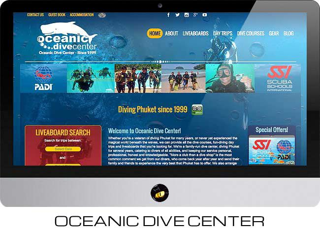phuket dive centre website design finflix