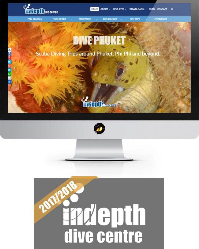indepth dive centre website design phuket finflix home page