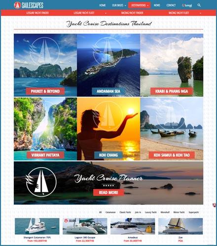 sailescapes yacht charter web design phuket finflix