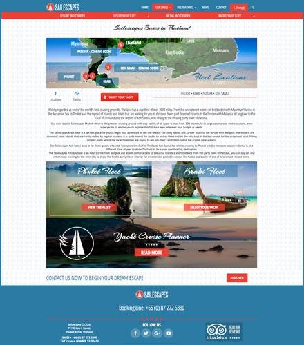 sailescapes yacht charter web development phuket finflix